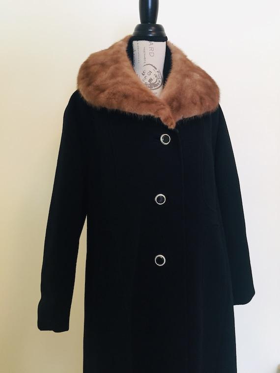Winter Jacket, Vintage Coat, Fur, Fur Collar, Wool