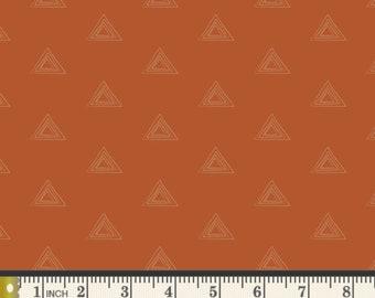 Dusk Zircon PREMIUM COTTON Burnt Orange Fall Art Gallery Fabrics 100% Premium Cotton Quilting Mask Halloween Pumpkin Spice Orange Triangles