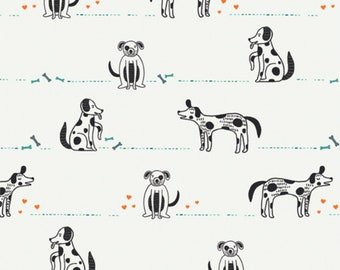 2 Styles Doggie Daze 100/% Cotton Fabric 36 Panels by QT