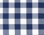 Navy Blue Carolina Gingham Robert Kaufman 1 Inch Square Picnic Plaid Quilting Cotton 100 Cotton Fabric Gingham Fabric Plaid Cotton Fabric