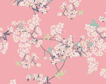 AGF KNIT Cherry Blossom Fabric Cotton Fabric Jersey Knit Fabric Art Gallery Yinghua Fabric Stretch Fabric Yinghua Cherrylight Fabric Cherry