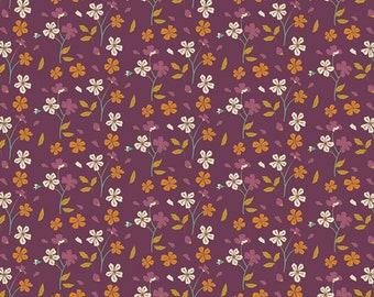 Cozy Ditzy Plum AGF PREMIUM COTTON Plum Fall Floral Art Gallery Fabrics 100% Premium Cotton Quilting Fabric Mask Fabric Jewel Autumn Vibes