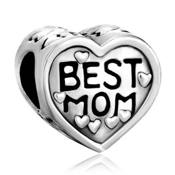 96c68bf4ae16e Best mom, I love you Mom, Mother's day, Mother's love gift jewelry charm  bead for European Charm Bracelet & similar DIY snake chains