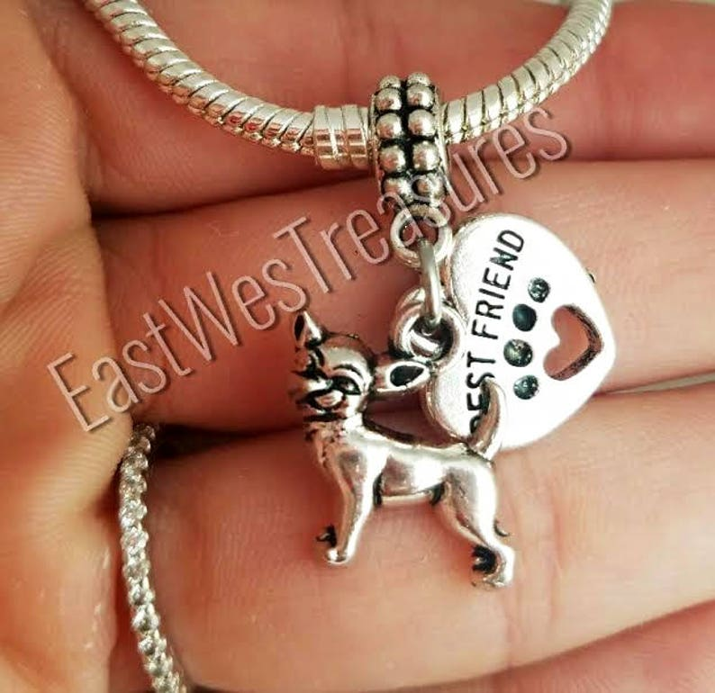 Gifts for Her Chihuahua Silver Charm Pendant Necklace Friend Gift Dog Lover