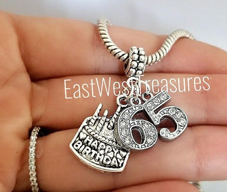 65th 65 Birthday Jewelry Gift Idea For Women Charm