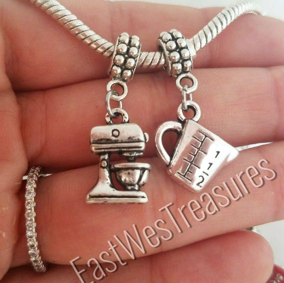 Cooking Charm Necklace Silver Baking Pendants Gift for Chef Baker Cook