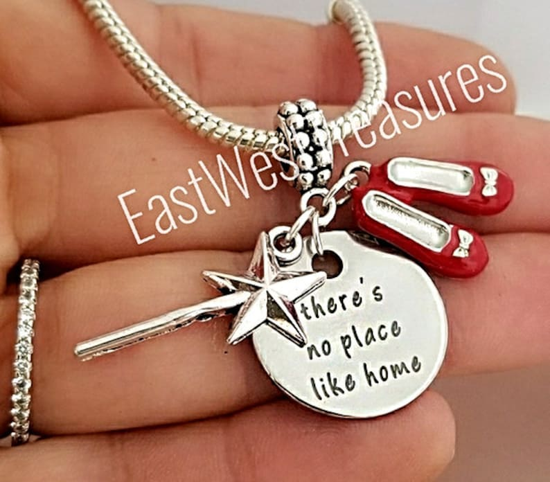 Dorothy red shoes wizard of oz charm pendant for bracelet necklace-European
