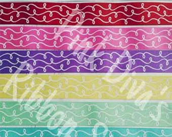 1.5 inch Glitter Doodles Ribbon - USDR - Doodles Ribbon