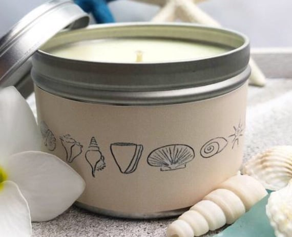 All Natural Soy Candle Tins 8oz with Essential /& Natural Oils Choose Scent