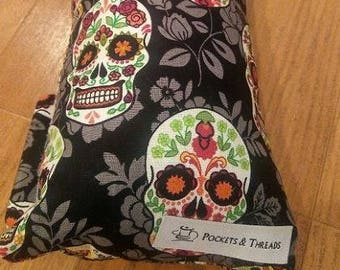 Sugar Skull Seat Belt Pillow - Toddlers or Adults