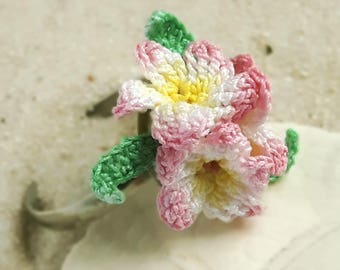 Beach themed jewelry luau flowers, Pink cluster ring, Pink plumeria flowers jewelry, Plumeria gift, Frangipani ring statement, Textile ring