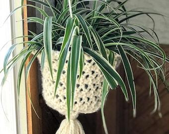Knit Plant Hanger, Hanging Basket Knitting Pattern, Hanging Planter,  Beginner Knitting Pattern, Housewarming Gift // Hang In There Basket