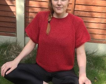 KNITTING PATTERN // Winnie Tee // Short Sleeve Raglan Pullover