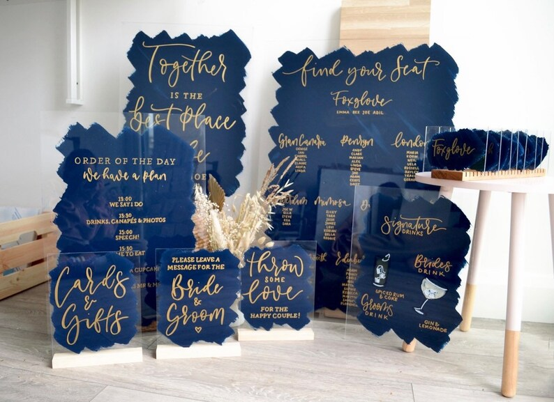 Acrylic Wedding Sign Packages  Wedding Set   Bundle Package image 0