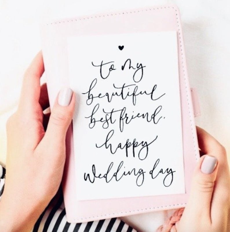 Happy Wedding Day Greetings Card To my best friend happy wedding day Instant Download Print at home Wedding Card Printable Card