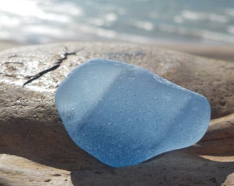 Light cornflower blue sea glass lot