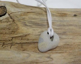 Naturally Holed Beach Stone - Hag Stone - Pebble with natural hole - Decorative Beach Find - Odin Stone Talisman #248