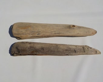 2 Flatish Driftwood 16.3-16.9''/41-43cm Thick Driftwood Pieces,Natural Driftwood Signs,Driftwood Mobile Supply#87A