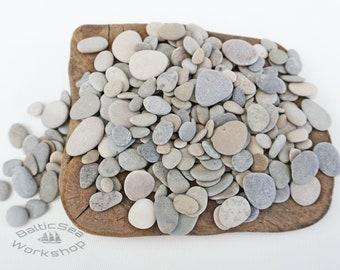 "Stone Decor - Selection Of 200 Small  Stones 0.5 - 1.1""/1.4-3 cm- Tiny/Small Sea Stones,Small Sea Stones, Pebble Art Stones#221"