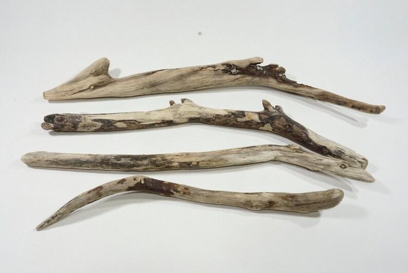 Woven Wall Hanging 4 Driftwood Sticks 13.2-18.333-46cm,Driftwood Mobile Supplies Decorative Trendy Driftwood Sticks #21S