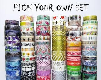 Set 15 / 30 / 50 Rolls Washi Tape 10MT DIY Decoration, Scrapbooking, Masking Tape, Decorazione, Agenda, Nastro, Carta Scrivici la tua scelta