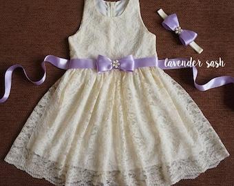 461a395b94 Ivory Lace Girl Dress