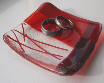 Red Small Glass Bowl