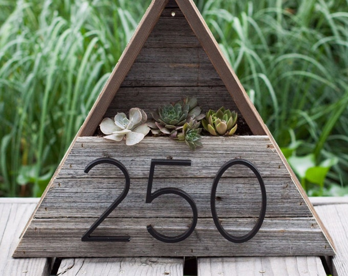 Triangle Address Succulent Planter