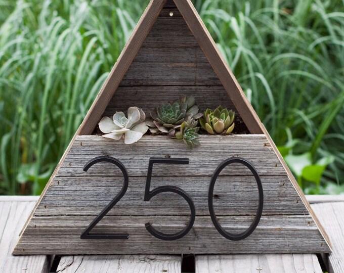 Triangle Address Succulent Planter