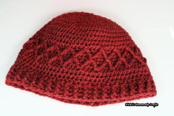 Muster-Gitter-Mütze häkeln | Etsy