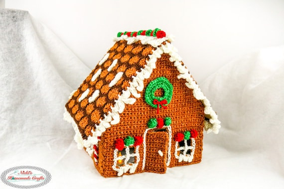 gingerbread house template etsy  Crochet Pattern: Gingerbread House *Christmas in July *Decoration
