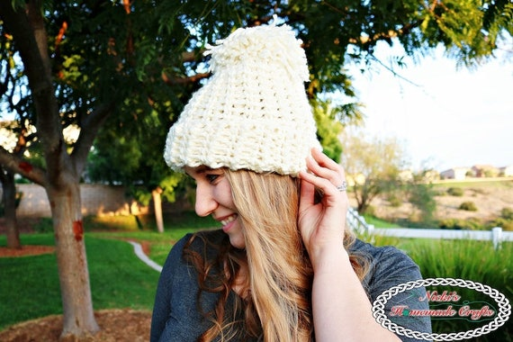 Crochet Pattern  Chunky Knit-Like Hat inspired by Chloe Kim  9b32fa97fcd