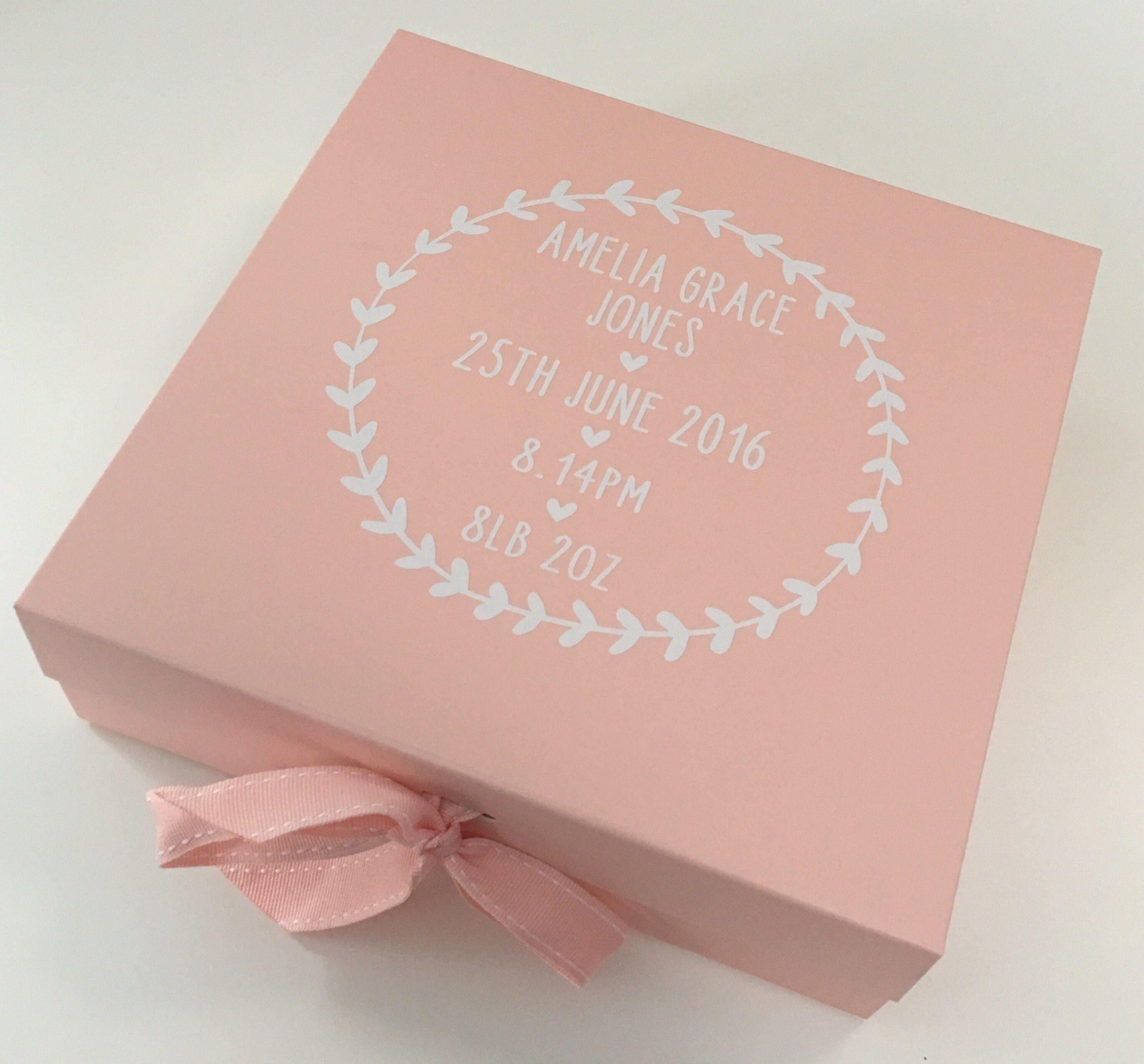 Baby Keepsake Memory Gift Box Pink