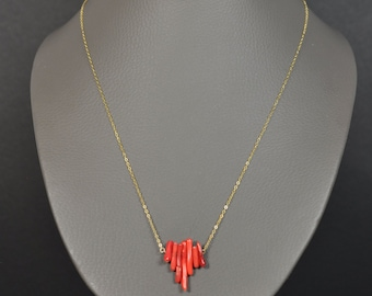 Necklace fine coral Red Sea bamboo