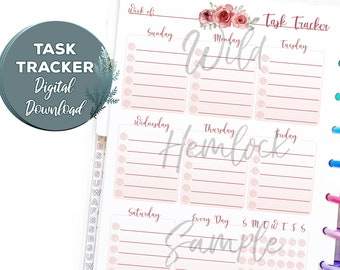 Printable Planner Inserts Happy Planner Classic Floral Cottagecore Habit Tracker Planner Printable Weekly Planner To Do List Cottage Core