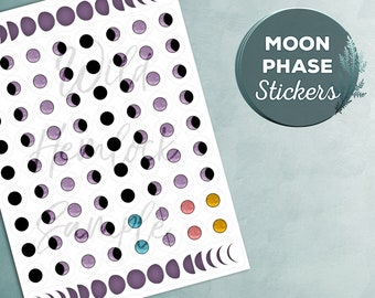 Moon Planner Stickers Sticker Pack Moon Phase Witch Stickers Journal Stickers Vinyl Stickers Moon Sticker Book of Shadows