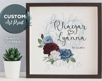 Personalized Gift Wedding Gift Couples Gift Custom Print Custom Gifts Gift for Couple Custom Wedding Gift Anniversary Gift