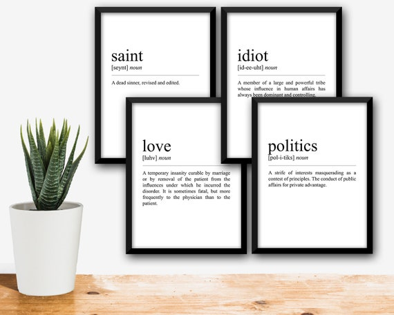 Definition Print Devils Dictionary Page Quote Print Ambrose Etsy