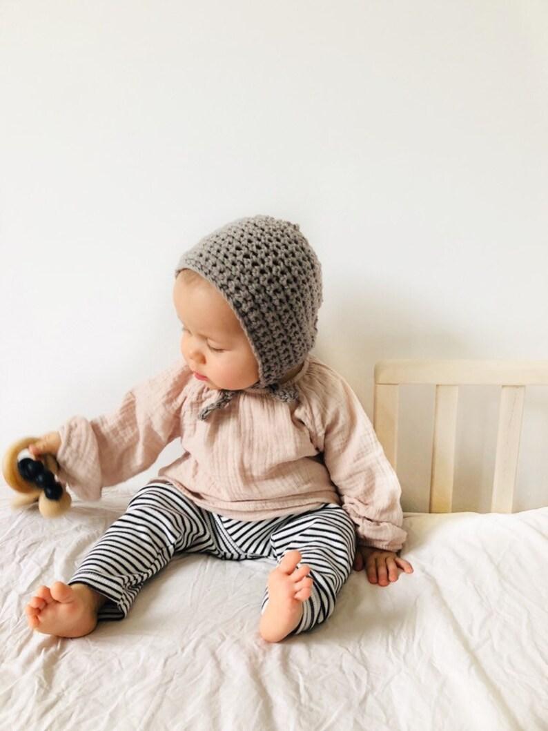 Baby bonnet Taupe baby shower gift newborn beaniesummer bonnetkids beanie