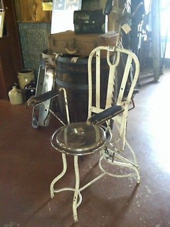 image 0 - Cool Old ANTIQUE Dental Metal DENTIST CHAIR Etsy