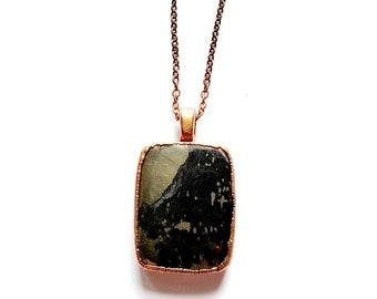 Apache Gold Electroformed Copper Necklace // Soldered Copper Chain