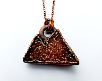 Copper Druzy Mountain Range Necklace // Electroformed, Soldered Copper Chain