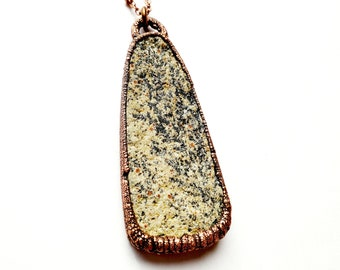 Psilomelane Dendrite and Copper Necklace // Electroformed, Soldered Copper Chain