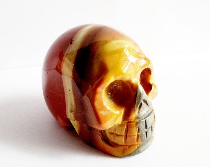 Carved Mookaite Jasper Skull // Gemstone // Healing Stone // Metaphysical, Crystal