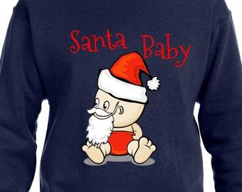 fd9a2e02 Santa Baby Pullover Cute Weihnachten Hoodie TH151