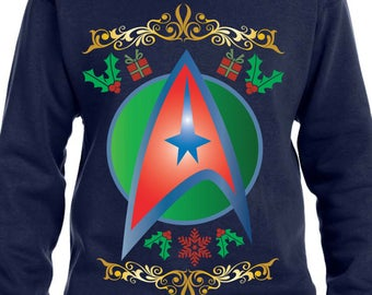 Trek The Halls Sweater Star Trek Sweater Merry Trekmas