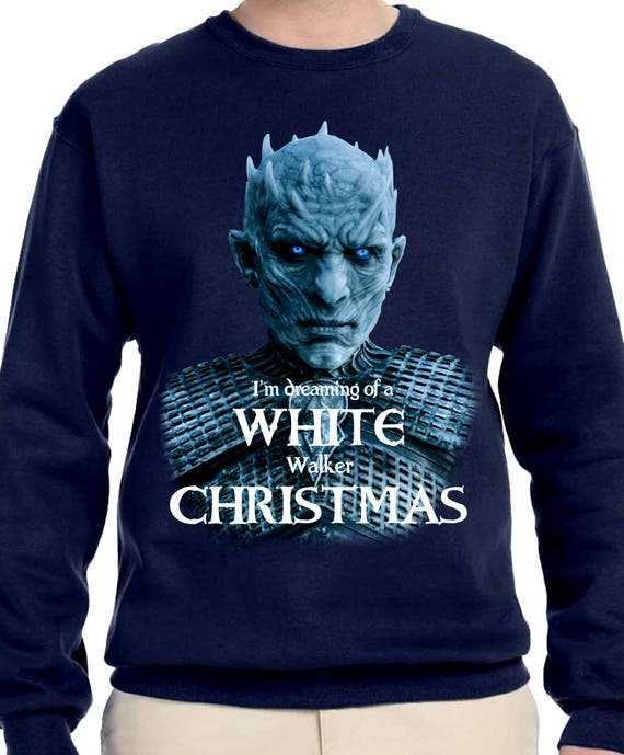 Blue And White Christmas Sweater.White Walker Sweater Christmas Sweater Christmas Hoodie Game Of Thrones Sweater Christmas Gift Gift For Game Of Thrones Fan Got Th390