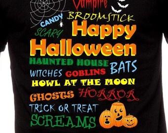 Happy Halloween T Shirt Gift for Halloween Party Tee Halloween Costume Halloween Sayings Shirt Kids Halloween Shirt Pumpkin Shirt TH021