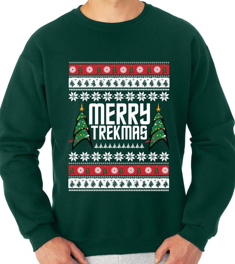 Merry Trekmas Sweater Star Trek Sweater Star Ship Enterprise  7d74fa7fb92