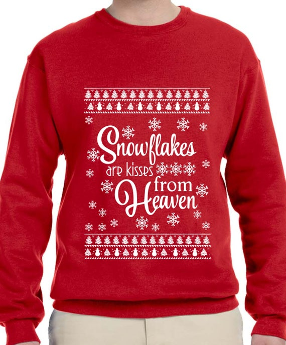 Christmas Sweaters Cute.Snowflakes Are Kisses From Heaven Christmas Sweater Ugly Christmas Sweater Christmas Gift Cute Christmas Shirt Snow Sweater Th388